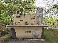 Saint-Jacques-altaar bij de bron in Saint-Yaguen