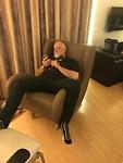 Mijn luxe lederen schommelstoel