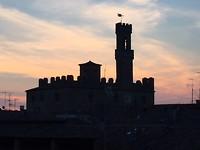 Mijn uitzicht vanaf het dakterras van Albergo Etruria
