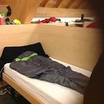 Mijn bed in Roncesvalles, in het klooster.