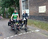 Officiele startstreep bij het St.Jacobshuis in Haarlem!