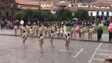 Cuzco hulde aan de vlag ceremonie