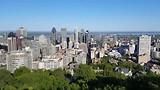 Het panoramisch uitzicht op Montreal