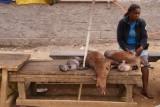 bushmeat op de markt van Ebolawa
