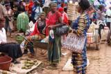 damesgedoe op de markt