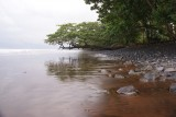 strand van lava in de buurt van Limbé in het zuiden