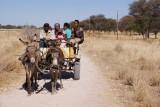 familie in de omgeving Kamanjab, Namibië