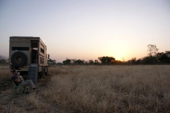 vlak bij de grens met Sudan, mooi rustig plekkie