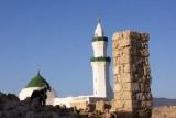 Coral city, alleen de moskee staat nog overeind