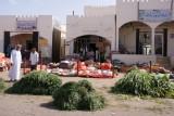 op de markt in Sinaw