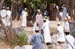 verlaten van de moskee