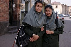 schoolmeisjes in Orumiyeh
