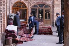 tapijtverkoper in Tabriz