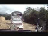 Afgekalfde bergen in Colombia
