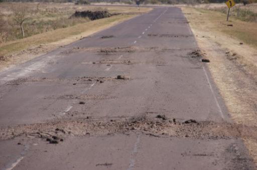 de weg in Corrientes