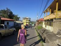 Een straatje in de 'stad'.