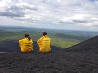 vulkaan zitten samen