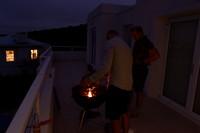 Braai op de veranda van ons huis in Plettenberg Bay