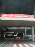 Nieuwe tunnel open/dicht