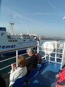 Op de ferry, in de zon