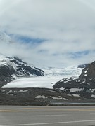 Gletsjer vlakbij highway