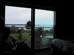 Uitzicht vanuit Kingfisher-kamer
