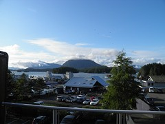Uitzicht op haventje Marina's West