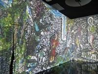... Chagall op scheidingswand geprojecteerd ...