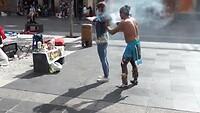 Shaman or warrior at Zocalo, Mexico City - 1