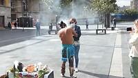 Shaman or warrior on Zocalo square Mexico City - 2