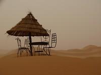 zitje in de woestijn