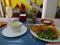 Merlusa con Pisco sour lunch