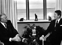 Corbatsjow en Reagan okt 1986