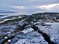 Pingvellir,in de buurt van de breuklijn