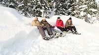 sneeuwschoen rusten