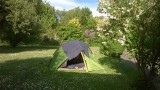 Op de camping in Durlach bij Karlsruhe