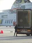Vluchteling in de haven van Patras!
