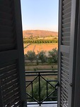 Uitzicht vanuit kamer hotel Amalia