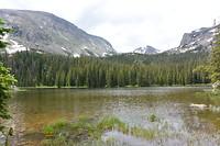 Ouzel Lake! Bereikt na 8km klimmen...