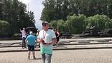 Het internationale gedenk monument van Auschwitz II - Birkenau .