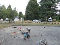 Zandbak bij de camping
