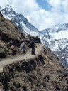 Mooie bergpaden tijdens Gosaikunda (maar je moest wel linksblijven!)