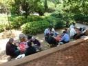 Overal wordt Mahjong gespeeld; dit was in de dierentuin!