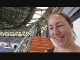 In het stadion van Real Madrid