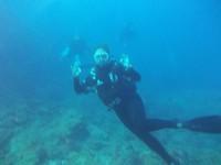 Onderwater ben ik net een vis