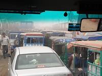 Traffic jam, de hele dag door