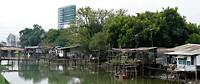 Sloppenwijk in Bangkok