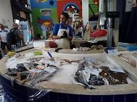 Overdekte vismarkt.