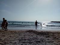 Strand bij Caparica.
