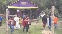 Viering in Mapuchekerkje